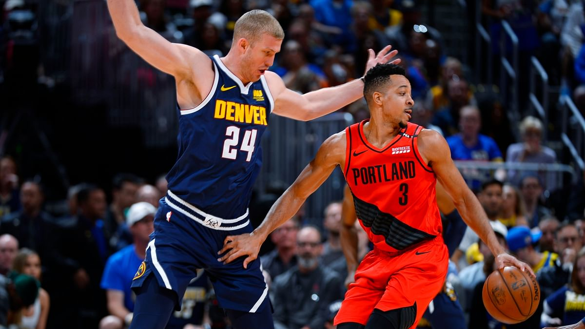 Sunday NBA Game 7 Recap: C.J. McCollum scores 37 and leads the Trail Blazers from 17 down to shock the Nuggets 100-96