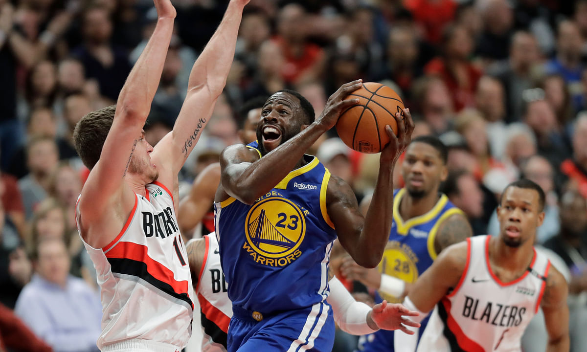 Draymond Green triple-double, Steph Curry's 36, lead Warriors to 110-99 Game 3 road win over Trail Blazers