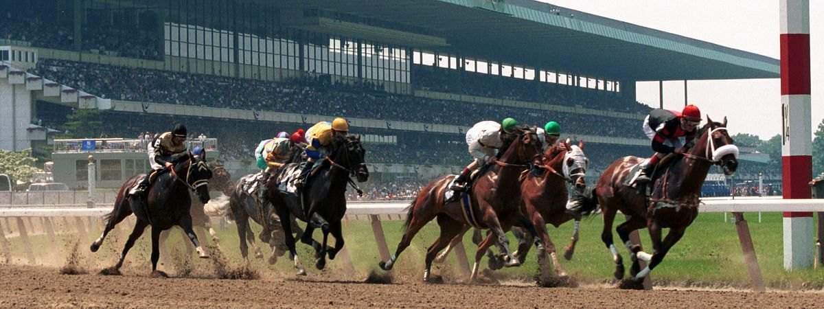 Racing at Belmont.