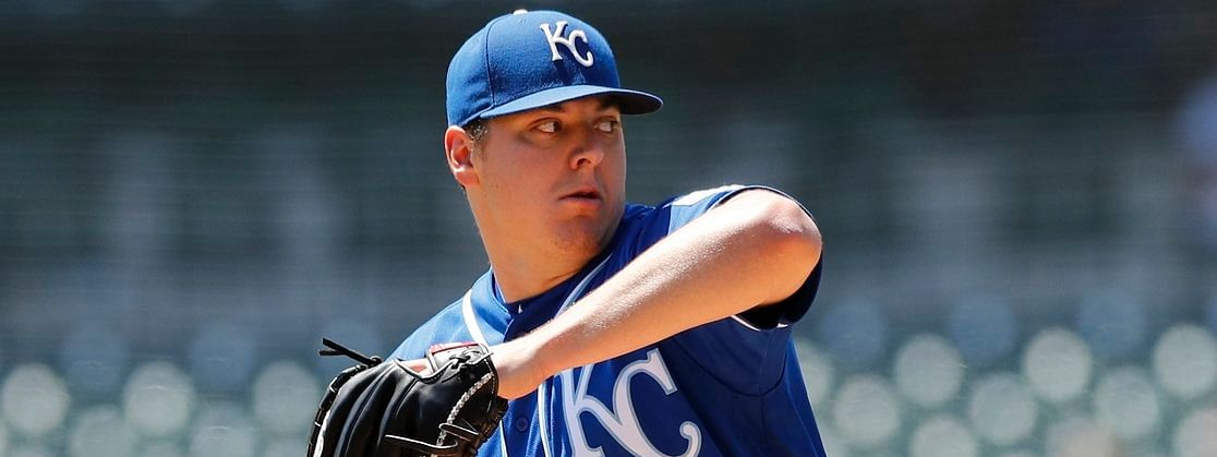 Brad Keller throws in his last start for the Royals on May 5 (Carlos Osorio)
