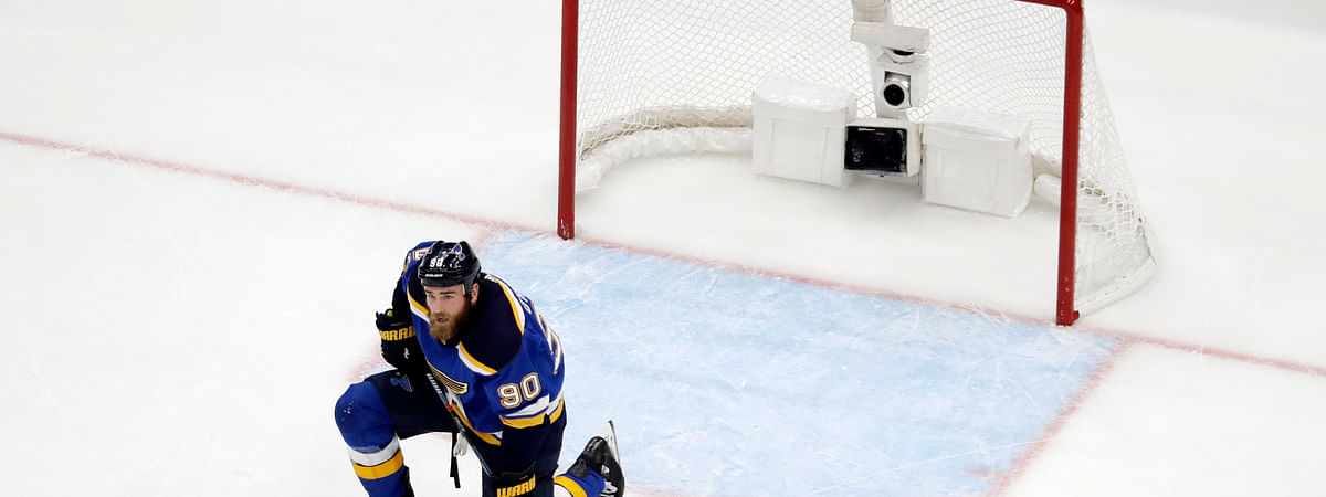 Blues center Ryan O'Reilly reacts to the Sharks' game-tying goal with 61 seconds left in the third period on Game 3 on May 15. If he only knew what was going to transpire next. (Jeff Roberson)
