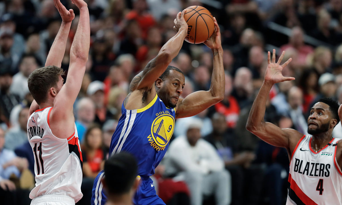 Warriors Game 4 Injury Alert: Andre Iguodala out with calf injury – Golden State bench vs. Trail Blazers gets even shorter