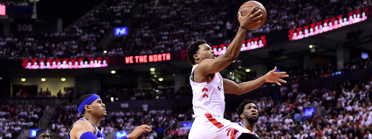 Raptors' Kyle Lowry goes in for a layup in Game on May 7 (Frank Gunn/The Canadian Press)
