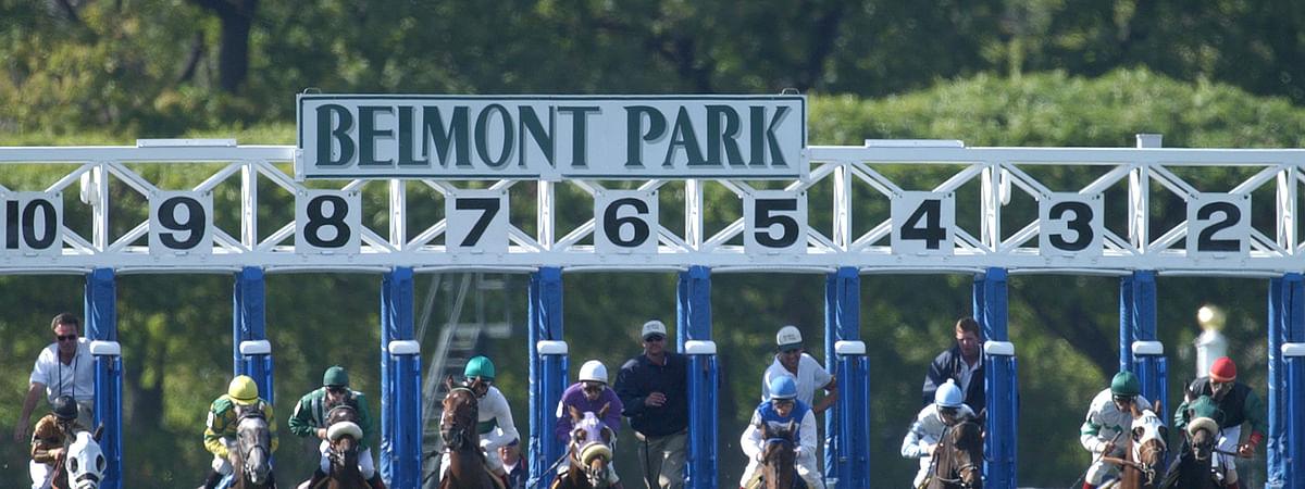 Racing at Belmont Park