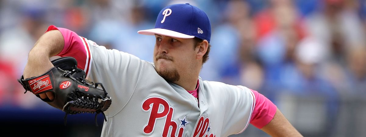 Phillies' Cole Irvin throws in his first career start on May 12 against the Royals (Charlie Riedel)