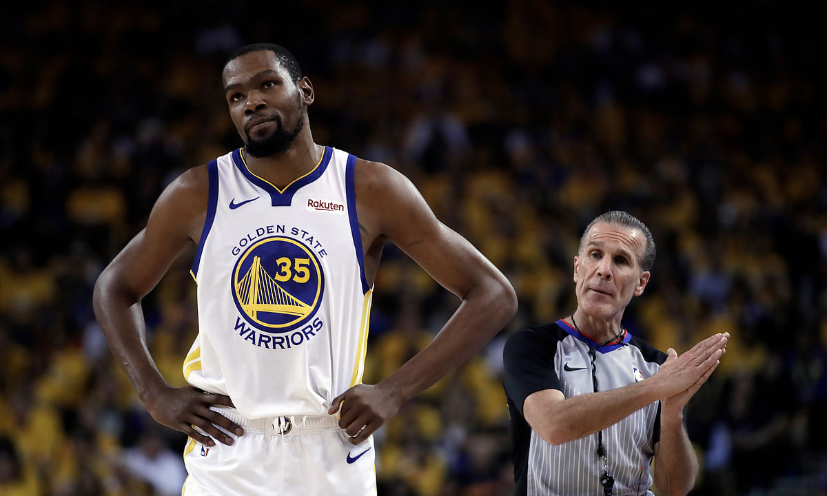 Kevin Durant won't be back for Warriors for Game 1 of NBA Finals, DeMarcus Cousins might be