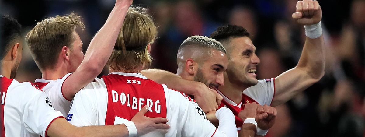 This is a photo from the first half, when things were going well for Ajax. (AP Photo/Peter Dejong)