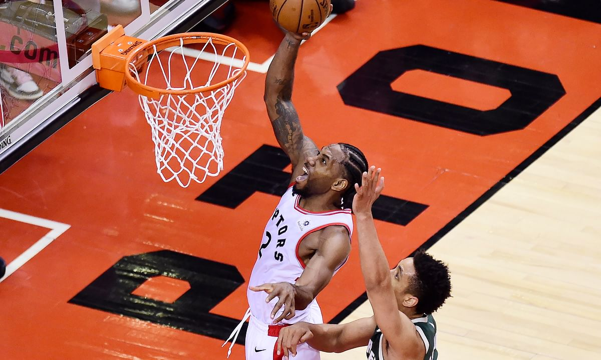 NBA East Finals: Kawhi Leonard puts Toronto on his back and carries Raptors to Game 3 must-win over Bucks 118-112 in 2OT
