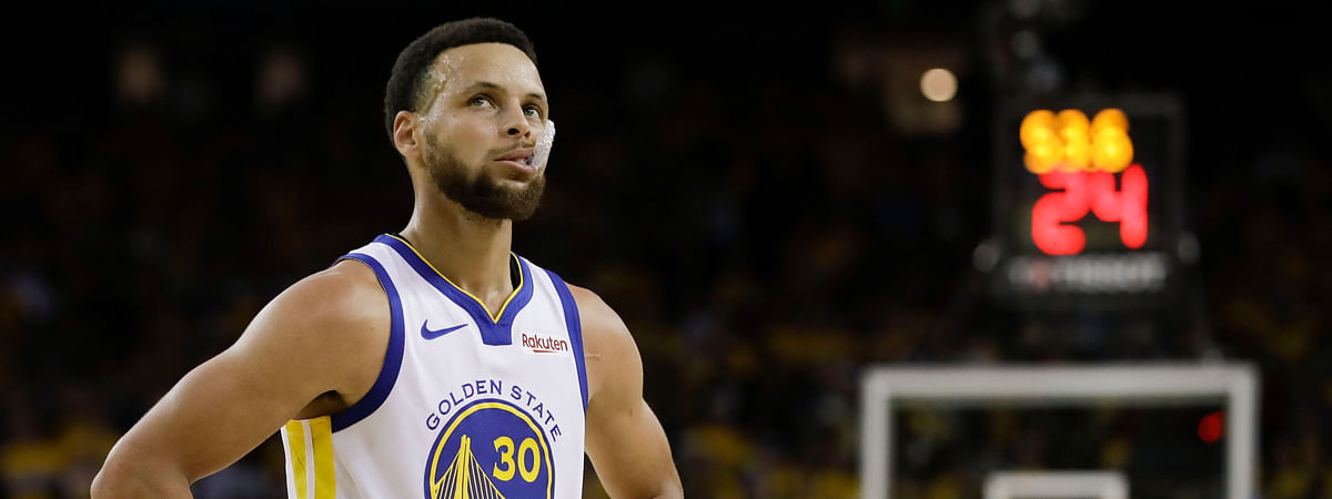 Warriors guard Stephen Curry Game 3 on June 5 (Ben Margot)