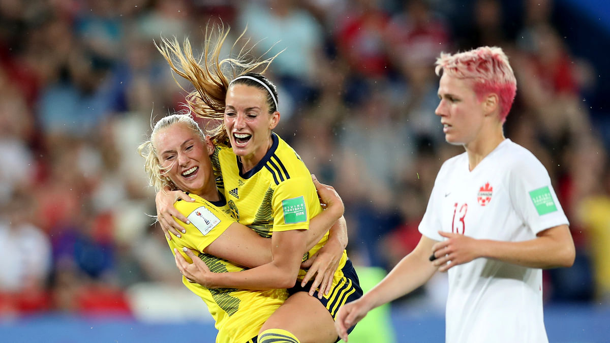 Sweden wins 1-0 over Canada. makes it through to Women's World Cup quarterfinals