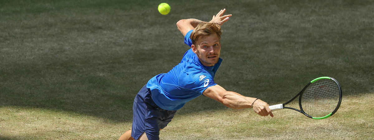 Belgium's David Goffin will be playing tennis in Nice this weekend and it will be live and on TV. (Friso Gentsch/dpa via AP)