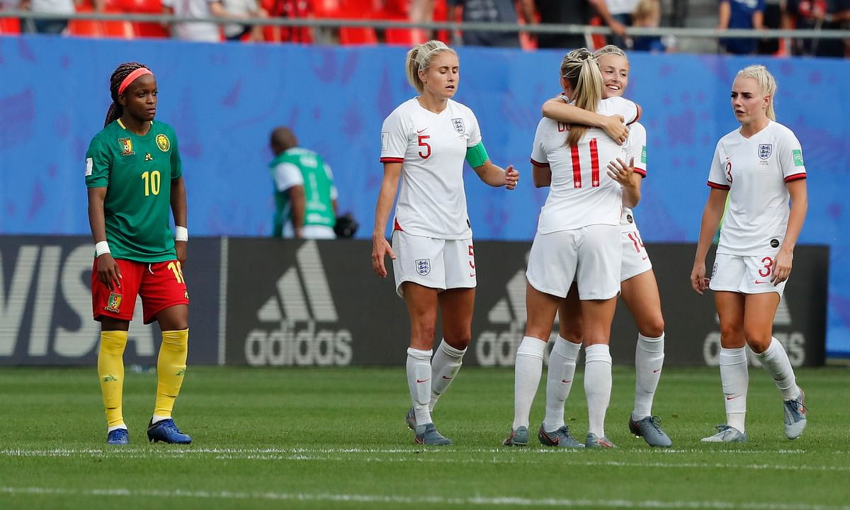Women's World Cup: England beats Cameroon 3-0 to reach quarters against Norway, as Cameroon shows anger over VAR reviews