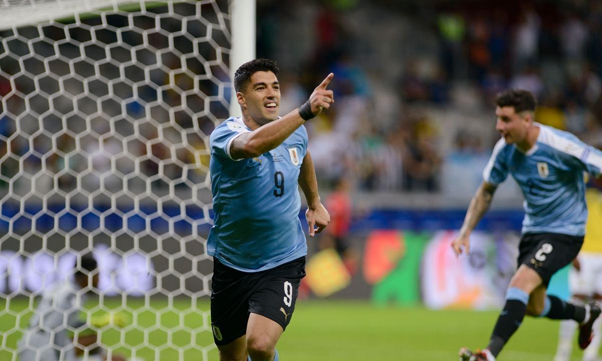 Uruguay tops 10-man Ecuador 4-0 in opening round of Copa America