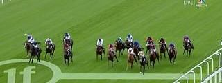 Horses head for home in last year's Coventry Stakes, won by Arizona.