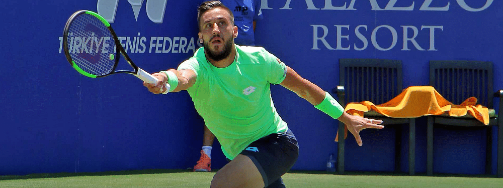 Defending champion Damir Dzumhur plays in the quarterfinals today in Turkey.