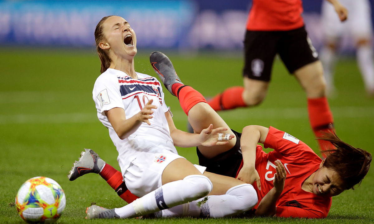 At Women's World Cup, Norway scores on two penalties and 2-1 win sends South Korea home