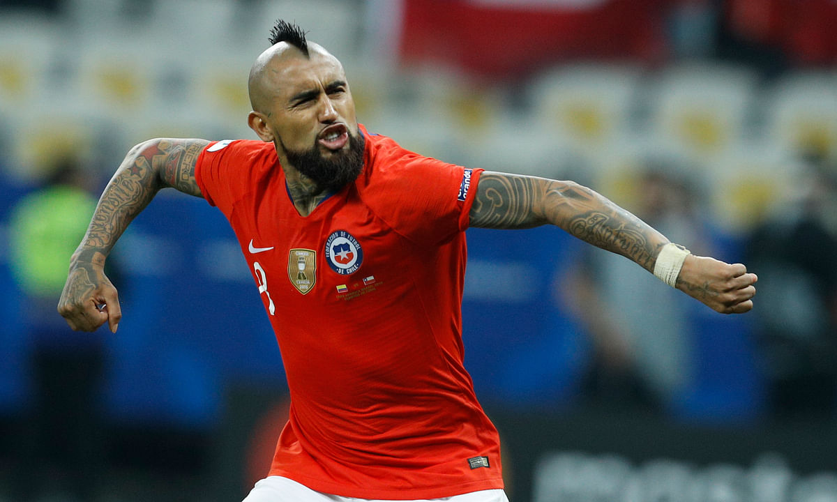 Defending champ Chile overcomes two called back goals to top Colombia 5-4 on penalties to reach Copa America semifinals