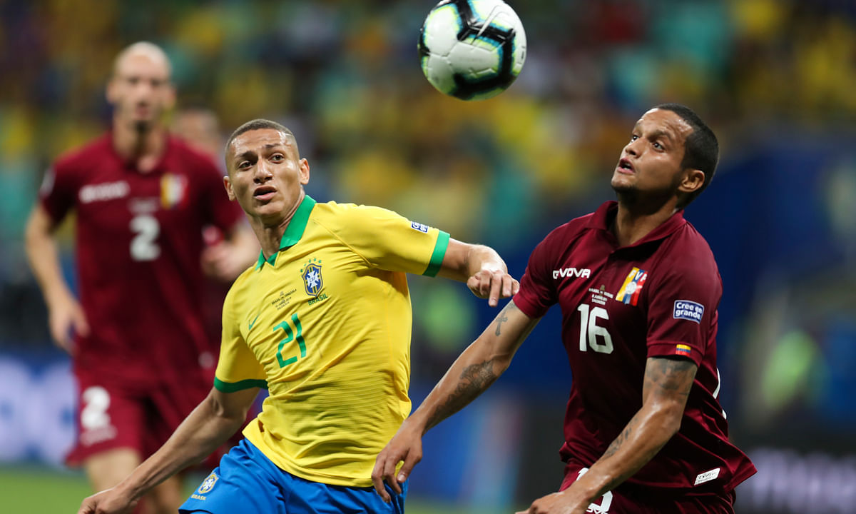 Venezuela holds host Brazil to 0-0 draw at Copa America, as home team has two goals called back