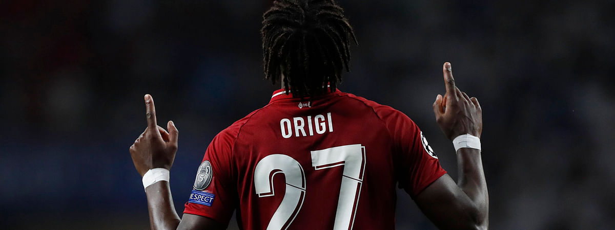 Liverpool's Divock Origi celebrates after scoring his side's second goal on  June 1 (Bernat Armangue)