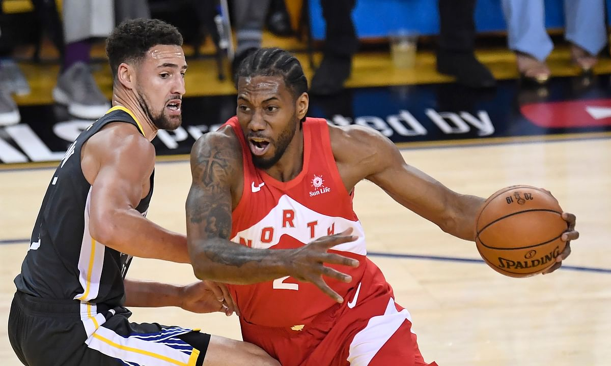 Raptors Serge to 3-1 lead in NBA Finals behind Kawhi and Ibaka, top Warriors 105-92. Can clinch first-ever title Monday night in Toronto