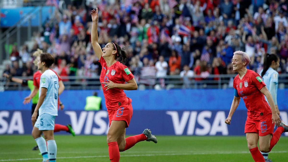 Alex Morgan scores 5 goals as USA defeats Thailand 13-0 in Women's World Cup Soccer action