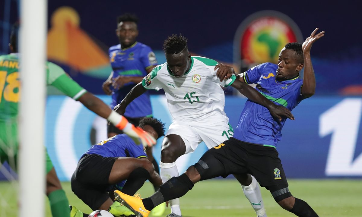 Senegal tops Tanzania 2-0 in first round of African Cup