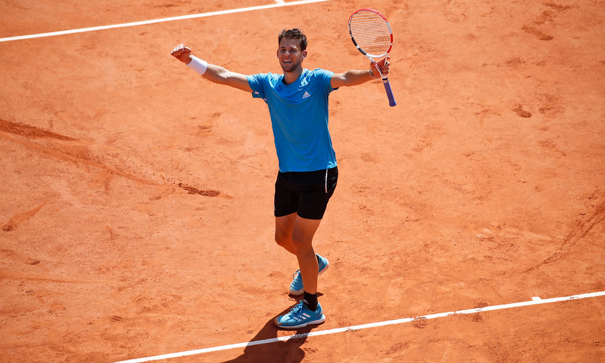 Thiem play! Austrian clay court star Dominic Thiem tops Novak Djokovic in  French Open semis in 5 sets. He'll face Nadal in final