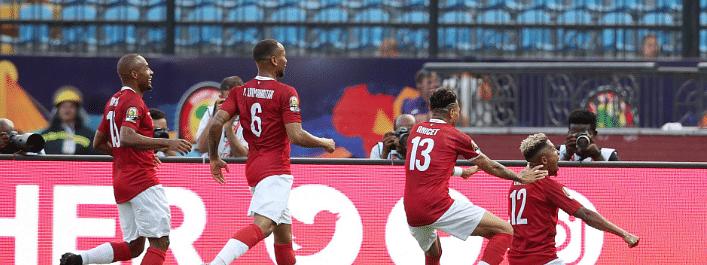 Madagascar celebrates a goal against Nigeria by Lalaina Nomenjanahary.