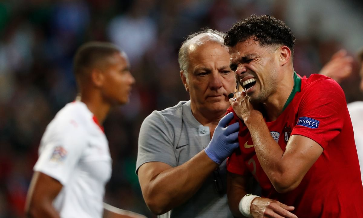 Soccer injury update: Portugal defender Pepe to miss Nations League final due to shoulder injury