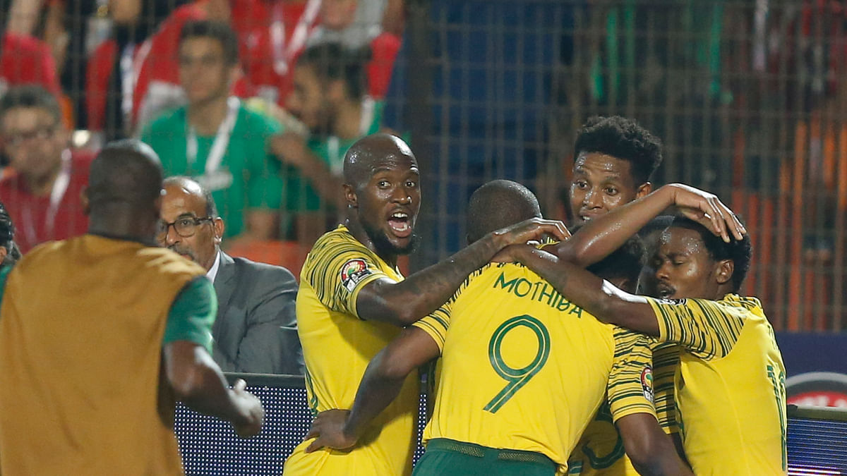 South Africa stuns Salah and host  Egypt with 1-0 win in African Cup Round of 16