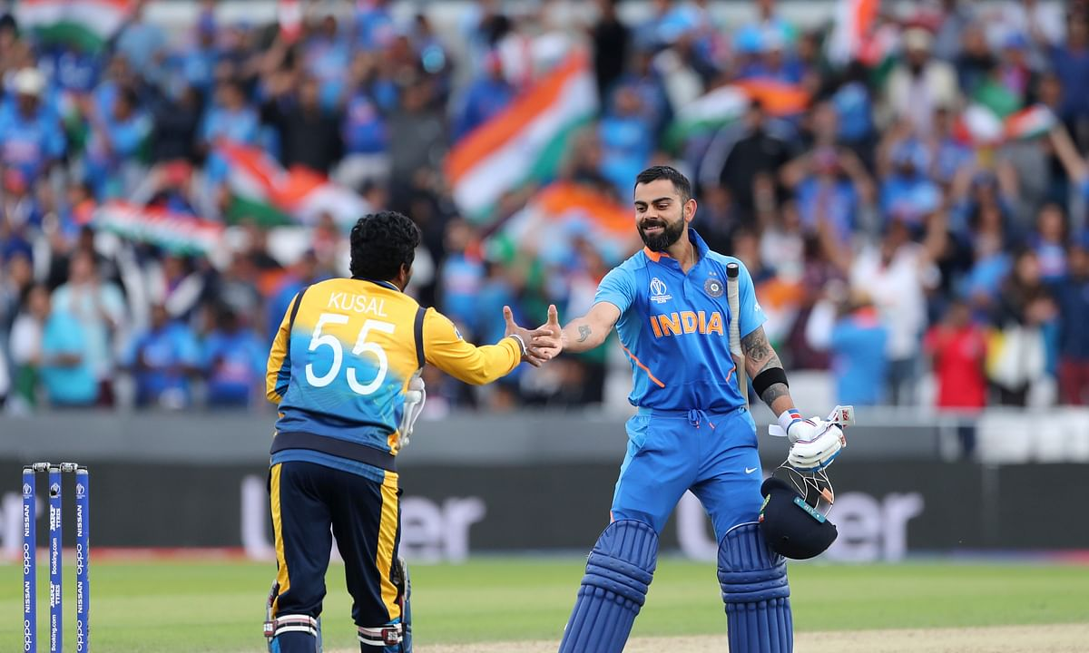 India tops Sri Lanka by 7 wickets at Cricket World Cup
