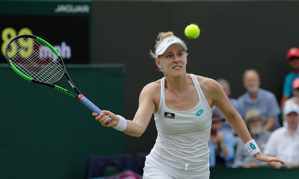 United States' Alison Riske returns to action.