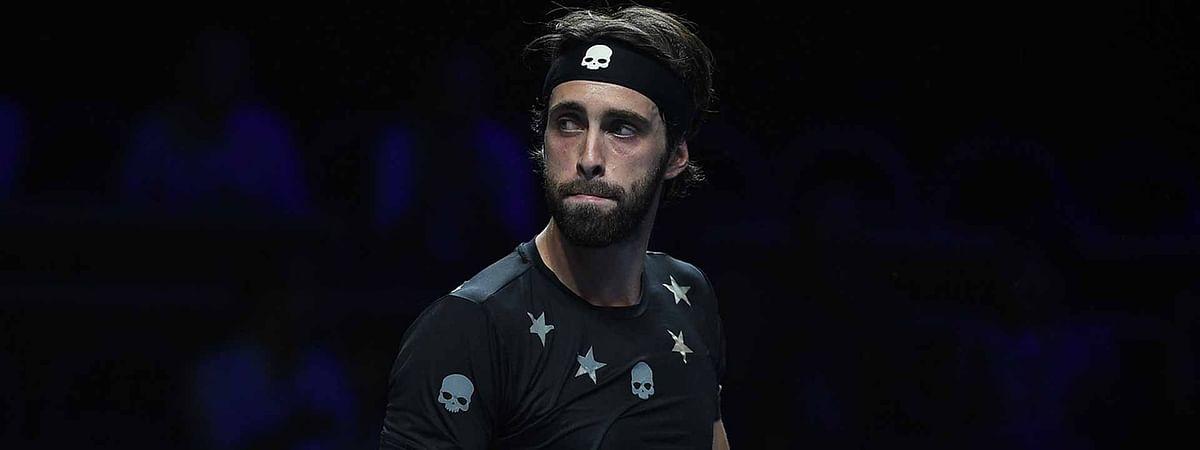 Nikoloz Basilashvili, pictured, has beaten Andrey Rublev in the Hamburg Open final, Sunday, July 28, 2019