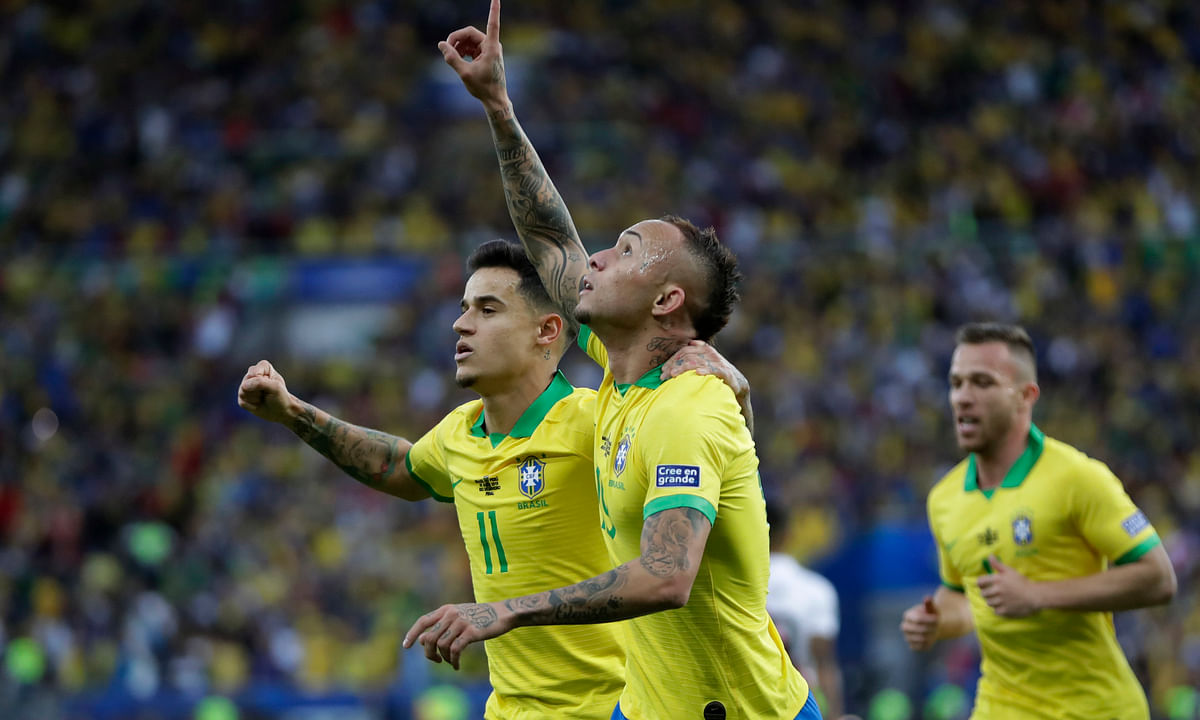 Host Brazil beats Peru to win 1st Copa America title since 2007 -- Everton, Jesus and Richarlison scored for the winners