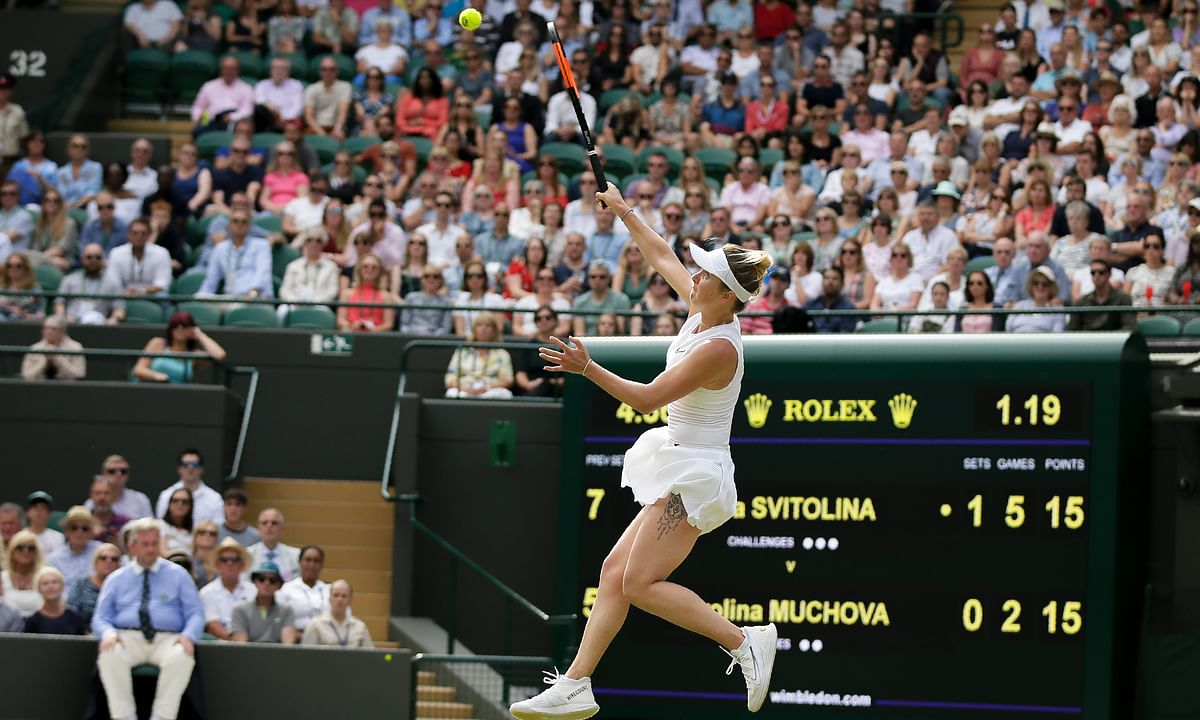 Wimbledon update: Barbora Strycova beats Johanna Konta and Elina Svitolina beats Karolina Muchova to reach semifinals