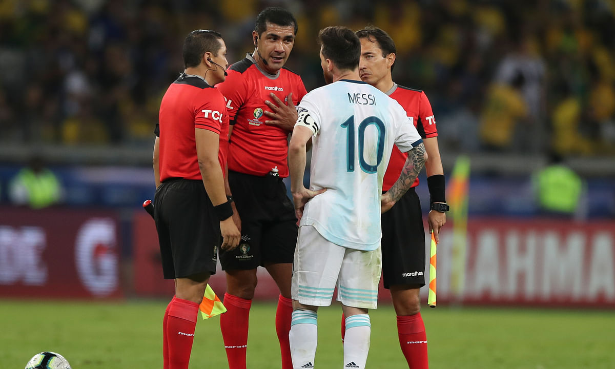 Following loss to Brazil, Argentina files complaint about refereeing at Copa America