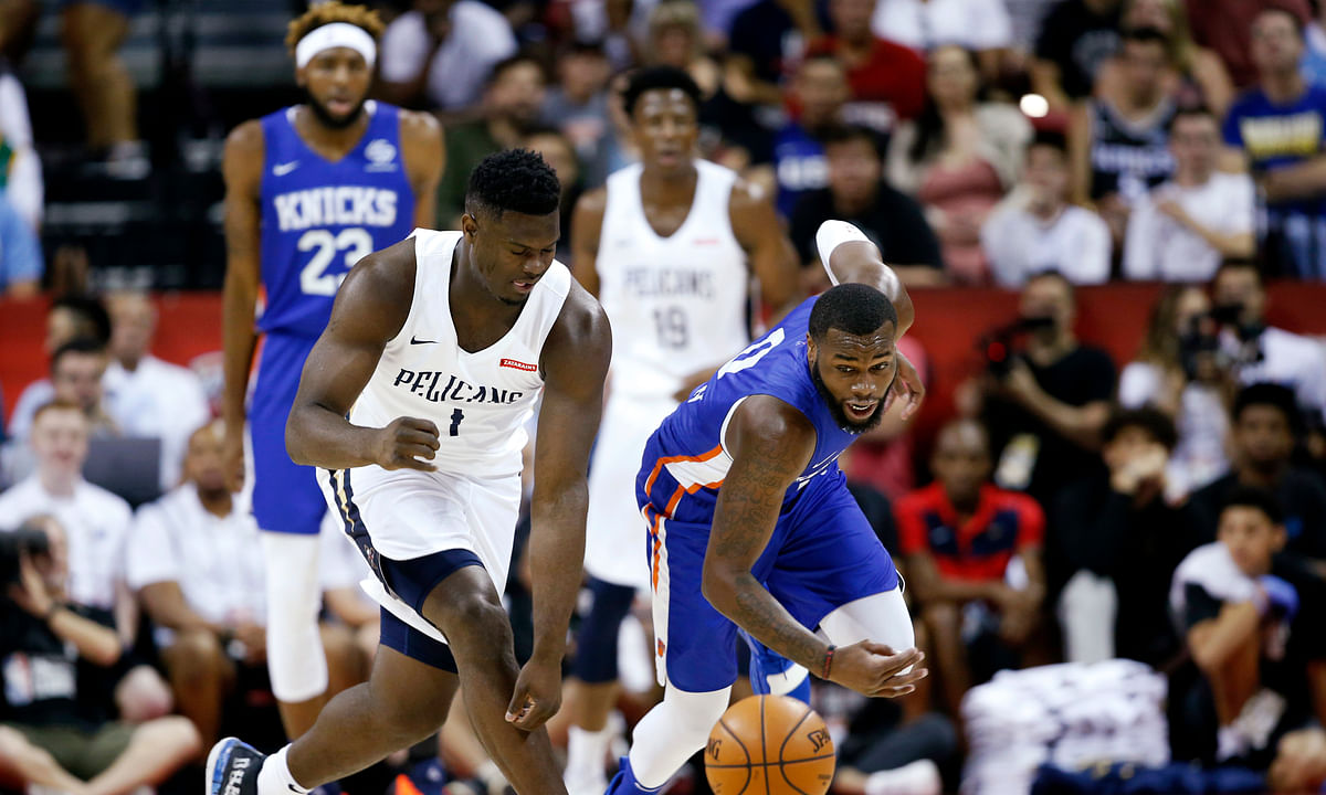 NBA Summer League: Zion Williamson's 1st game, the hottest ticket in Las Vegas, postponed by earthquake in 4th quarter. Yeah, that's right.