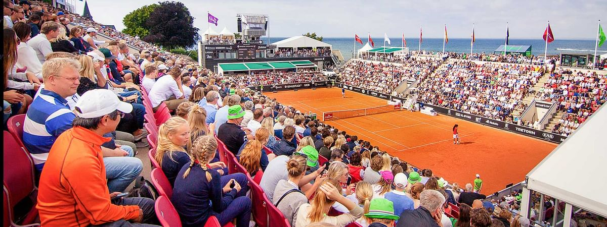 The clay court of Bastad, Sweden.