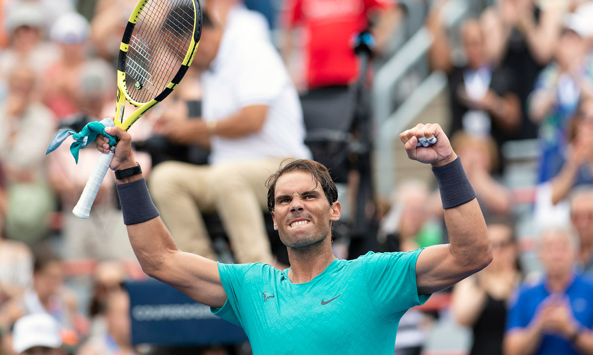 Defending champ Rafael Nadal wins Rogers Cup opener; Thiem, Cilic, FAA, Hurkacz, Khachanov, Fognini, Medevdev, among others advancing