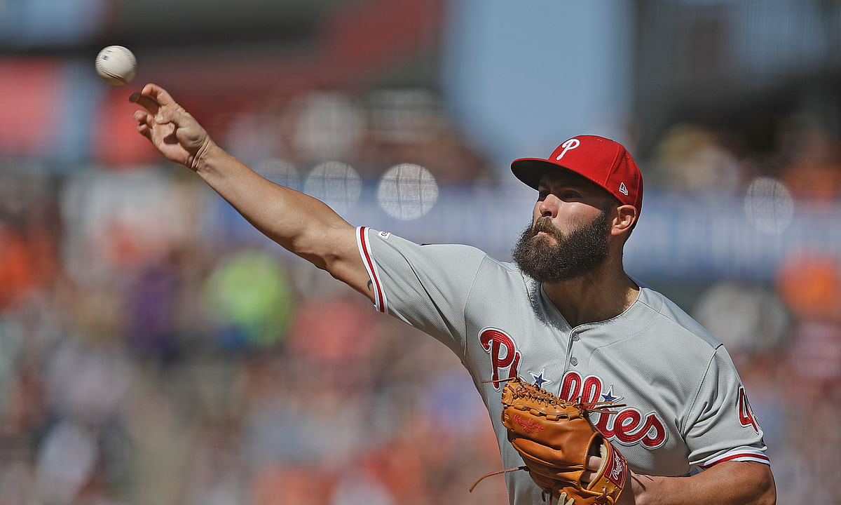 Phillies pitcher Jake Arrieta unlikely to pitch again this season