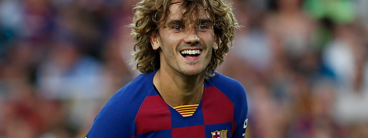 FC Barcelona's Antoine Griezmann during the Joan Gamper trophy soccer match between FC Barcelona and Arsenal at the Camp Nou stadium in Barcelona, Spain on Aug. 4, 2019.