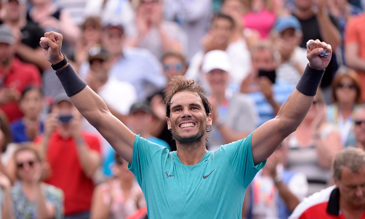 Rafael Nadal wins 5th Roger Cup title, beating Daniil Medvedev in straight sets