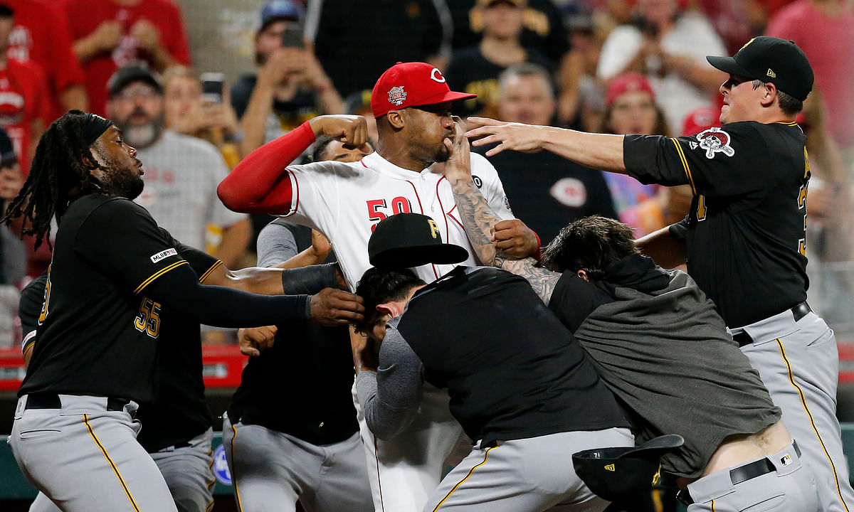 MLB suspends 8 for Reds-Pirates brawl, including both managers