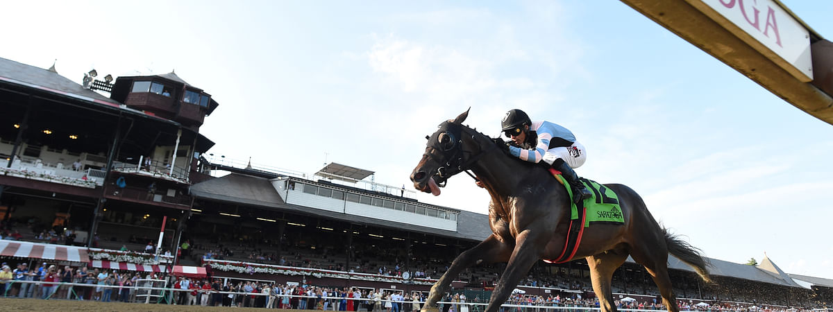 The speedy Shancelot, winning The Amsterdam last month at Saratoga, races Saturday, Aug. 24, 2019, in the Allen Jerkins Stakes.