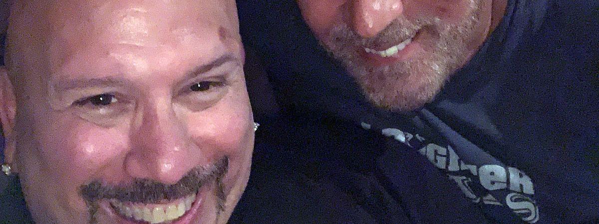 Tony Luke Jr. (left) and his friend/comedy mentor, Craig Shoemaker