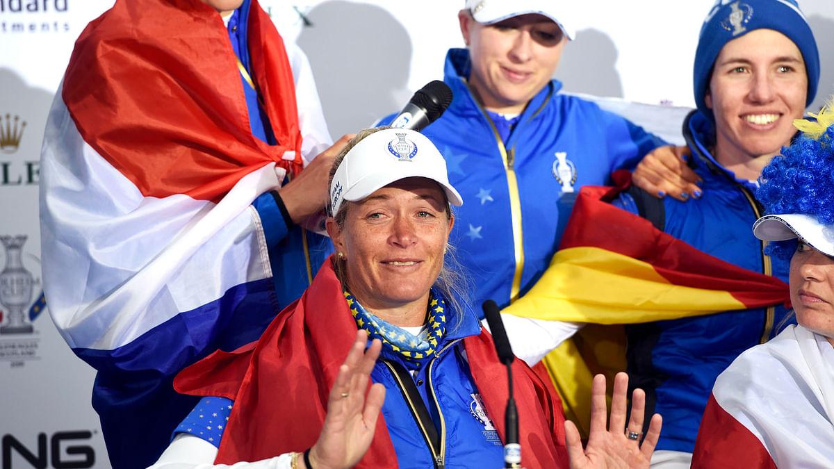 Golf: After Solheim Cup-winning putt, Suzann Pettersen achieves rare feat by retiring on top