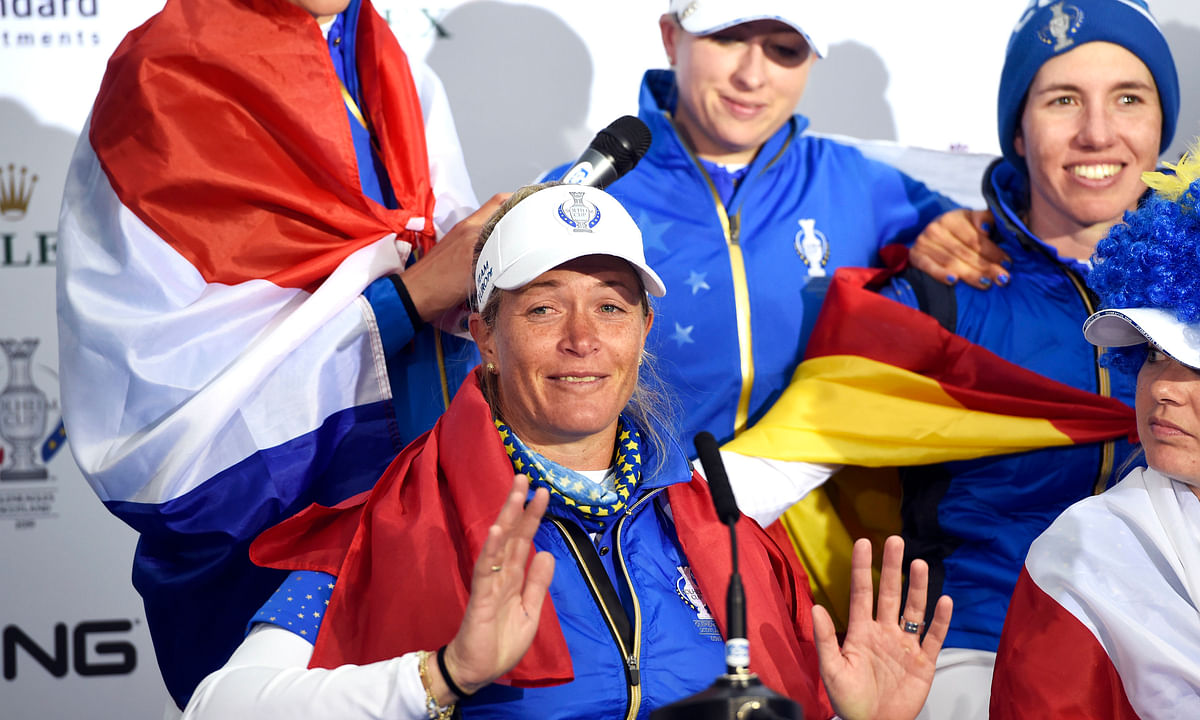 Golf: After Solheim Cup-winning putt, Suzann Pettersen achieves rare feat by retiring on top