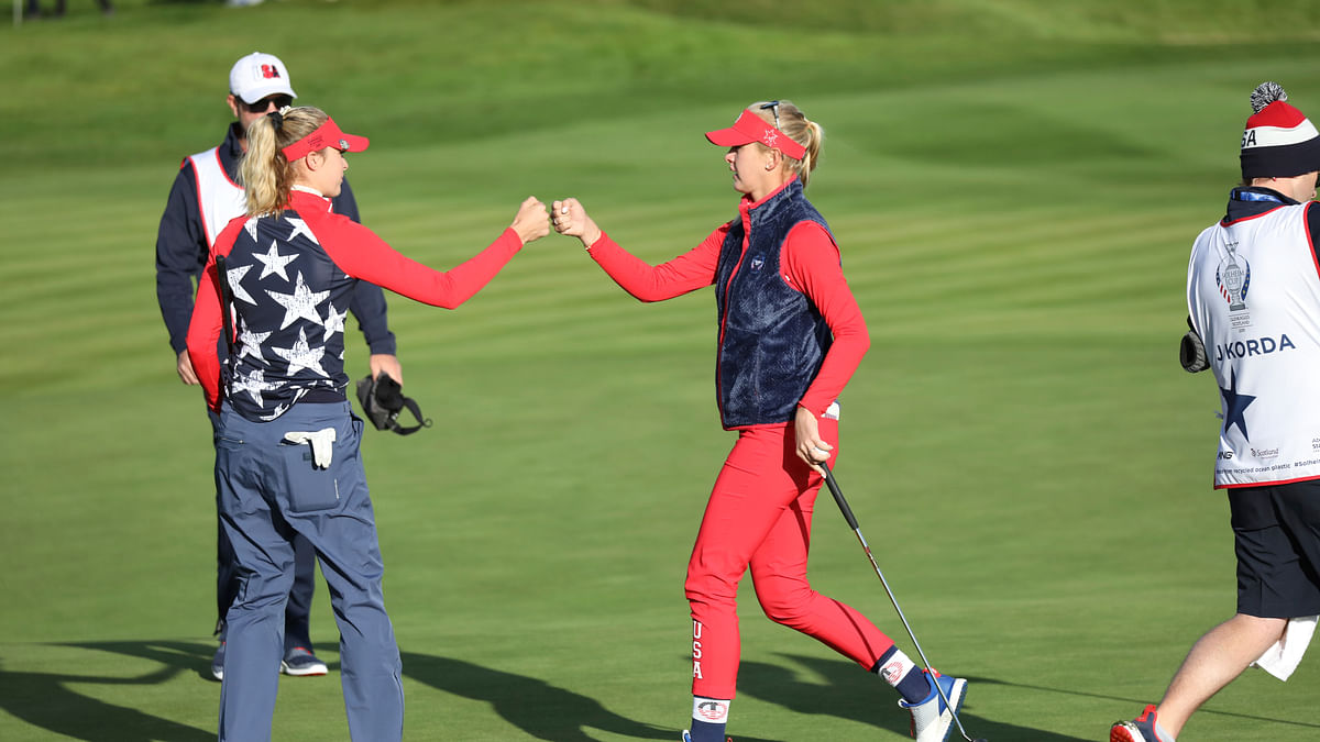 Solheim Cup: Europe leads in first day foursomes despite big win for Korda sisters