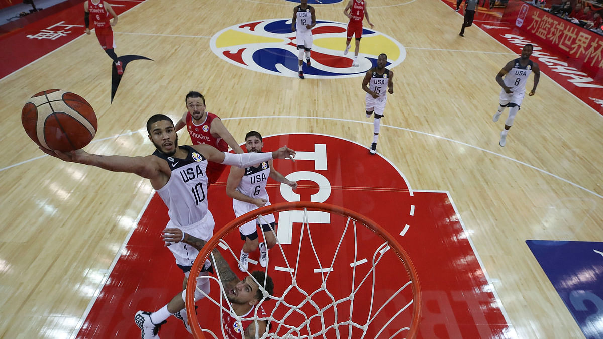 US forward Jayson Tatum to miss 2 World Cup games with ankle sprain