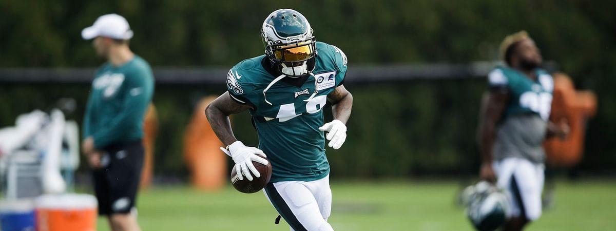 Eagles wide receiver DeSean Jackson practices on Sept. 4 (Matt Rourke)